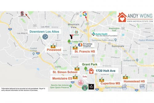 Amenities Map - 1720 Holt Ave